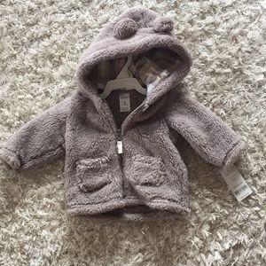 NWT Carters Sherpa Bear jacket Sz 3 months